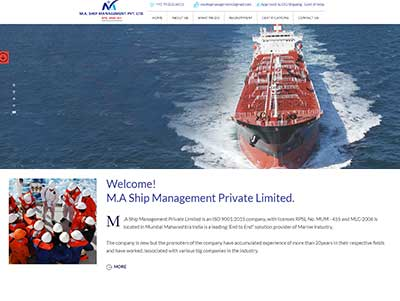 ship training website designing company in mumbai